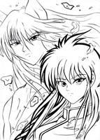 My Kurama and Youko fanart by hakeshsama
