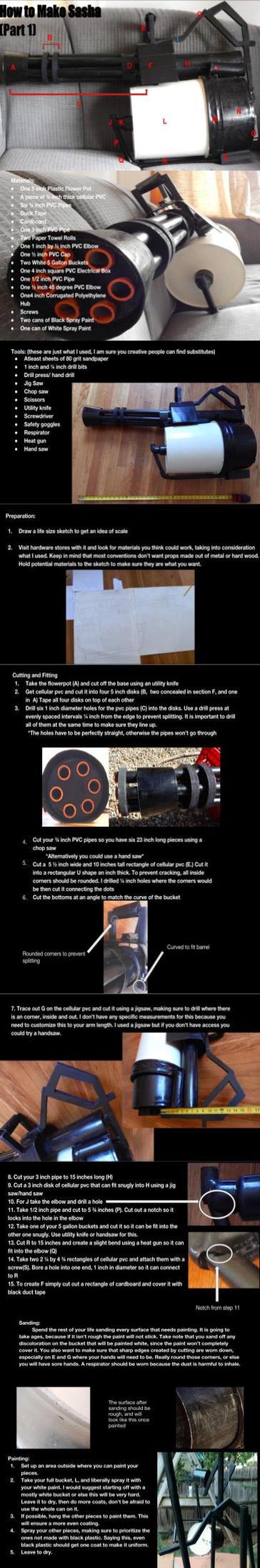 TF2 Minigun Prop Instructions Part 1 by DragonHaven42