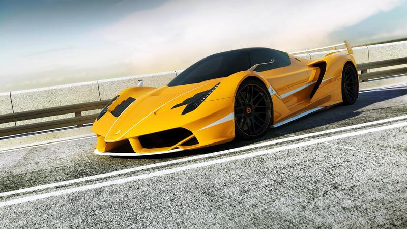 33+ Ferrari Yellow Wallpaper 4K  PNG