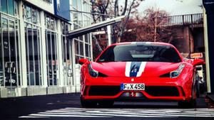 Ferrari-458-red-car-parking-hd-wallpapers
