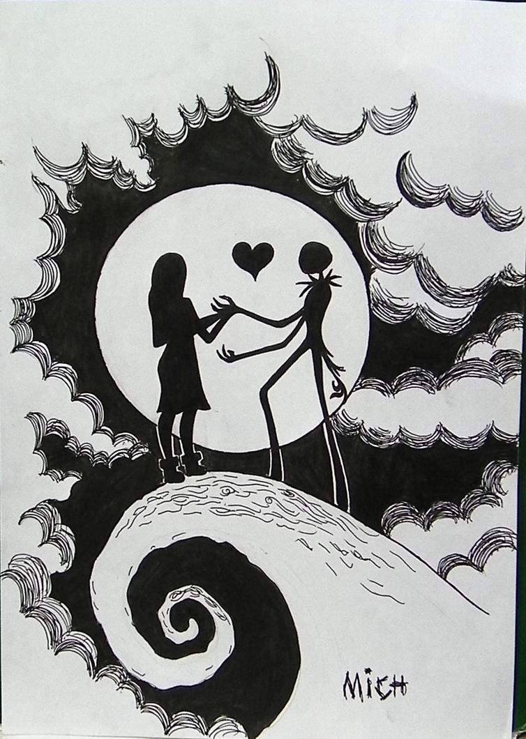 jack the pumpkin king coloring pages - jack and sally by mishellecintra on deviantart