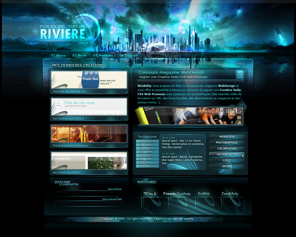 portfolio webdesign mag by naelfia on deviantart