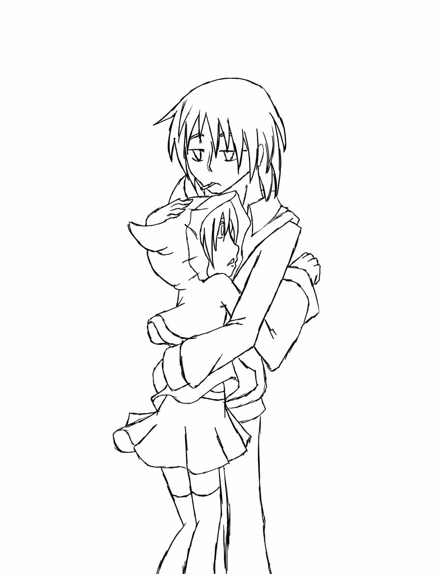 Hugging Couple Drawing Anime Couples Cuddling...