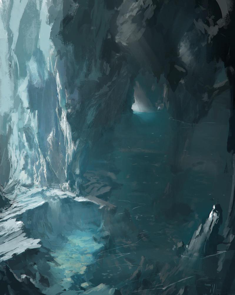 Deep Ice Cavern by FranklinChan