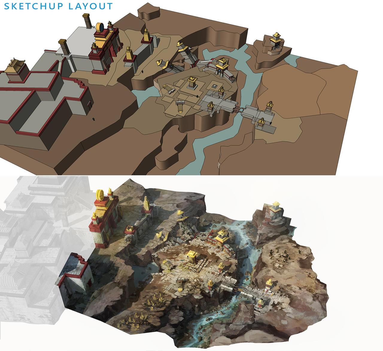 game level design with sketchup by franklinchan on deviantart