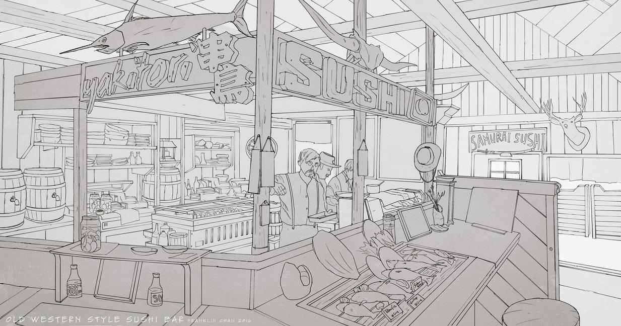 Environment Design Sketch by FranklinChan