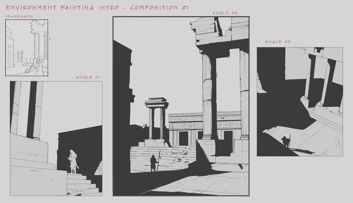 Environment Design Composition Studies by FranklinChan