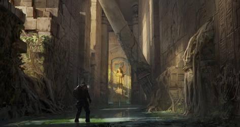 Sunken Egyptian Temple by FranklinChan