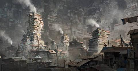The Slums Of Wu Jian by FranklinChan