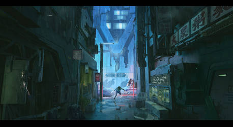 Cyberpunk Series - 01 Alley Chase