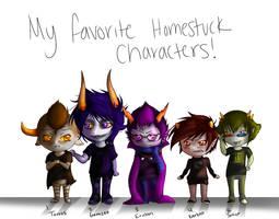 My favorite Homestuckers by xXAuraTaurusXx
