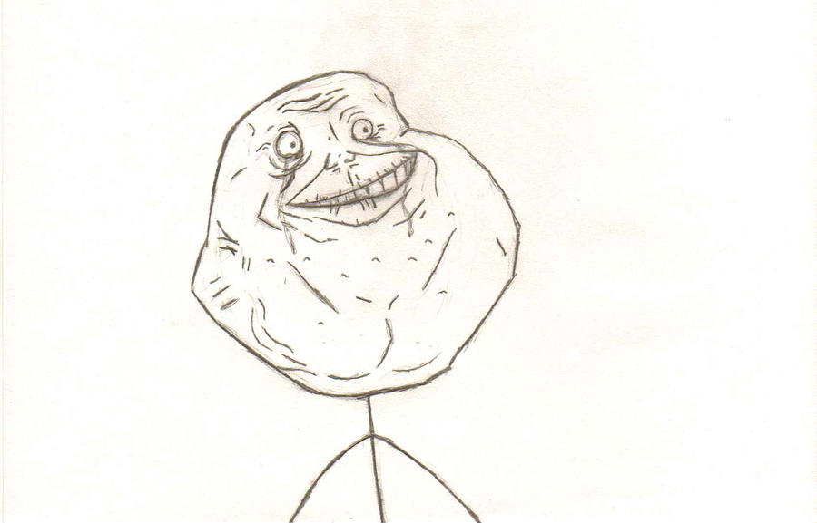 forever alone drawing by - photo #28