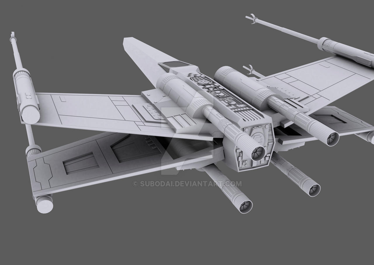 3D X-Wing WIP Print copy by Subodai