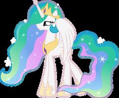 Princess Celestia practice vector by Archonitianicsmasher