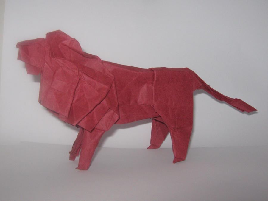 Origami Lion, fold 11-11-12 by Archonitianicsmasher