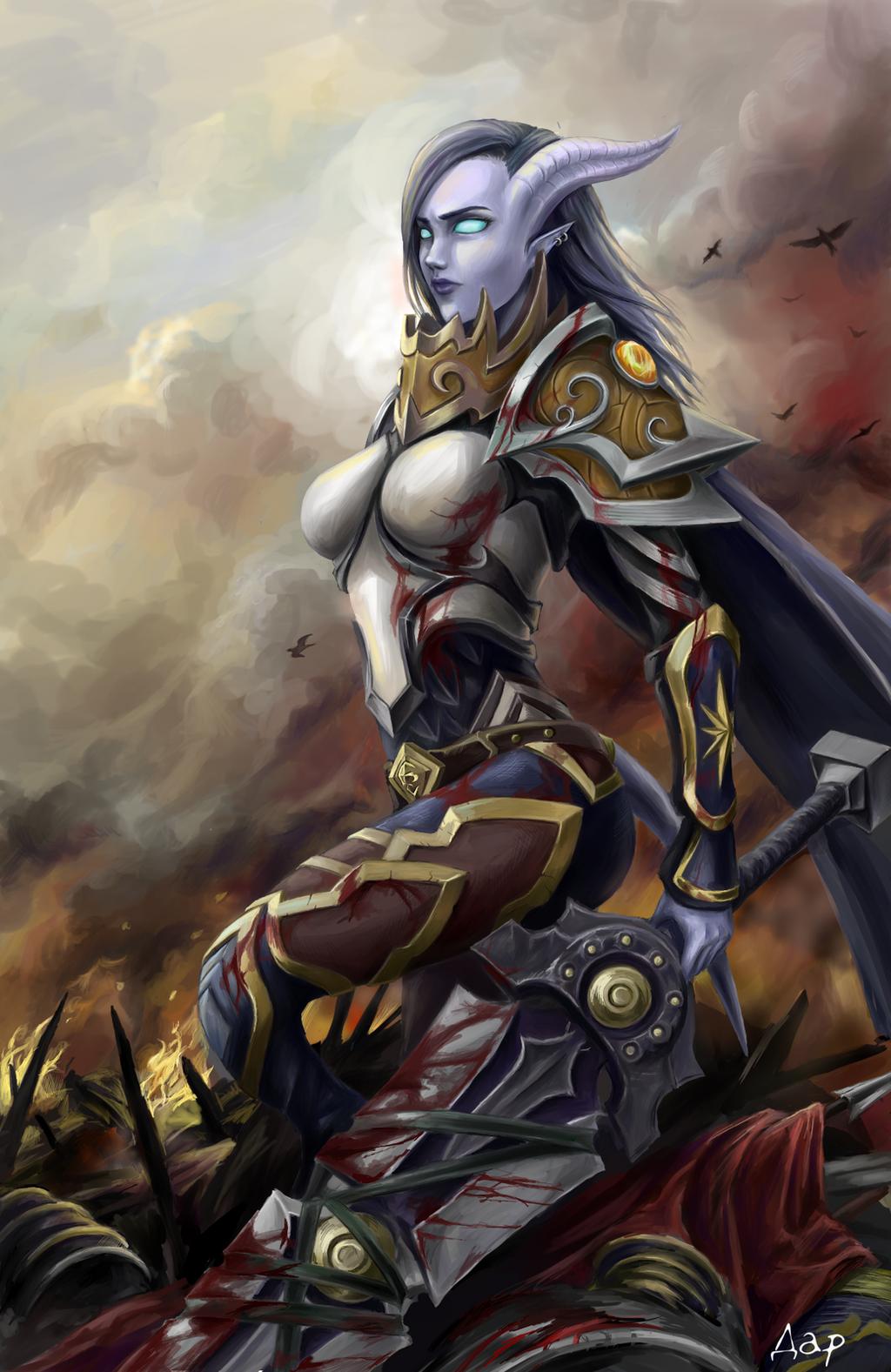 Draenei warrior female art fucked clip