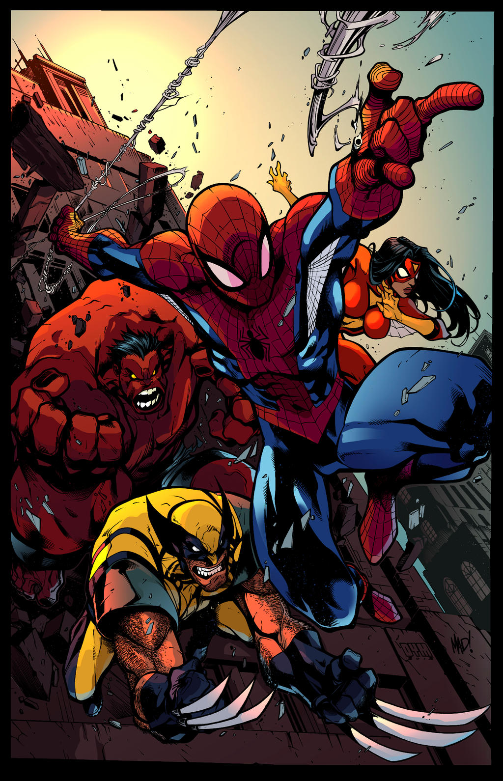 Avenging Spiderman Promo by MAD -colors by s-iRON by s-iRON