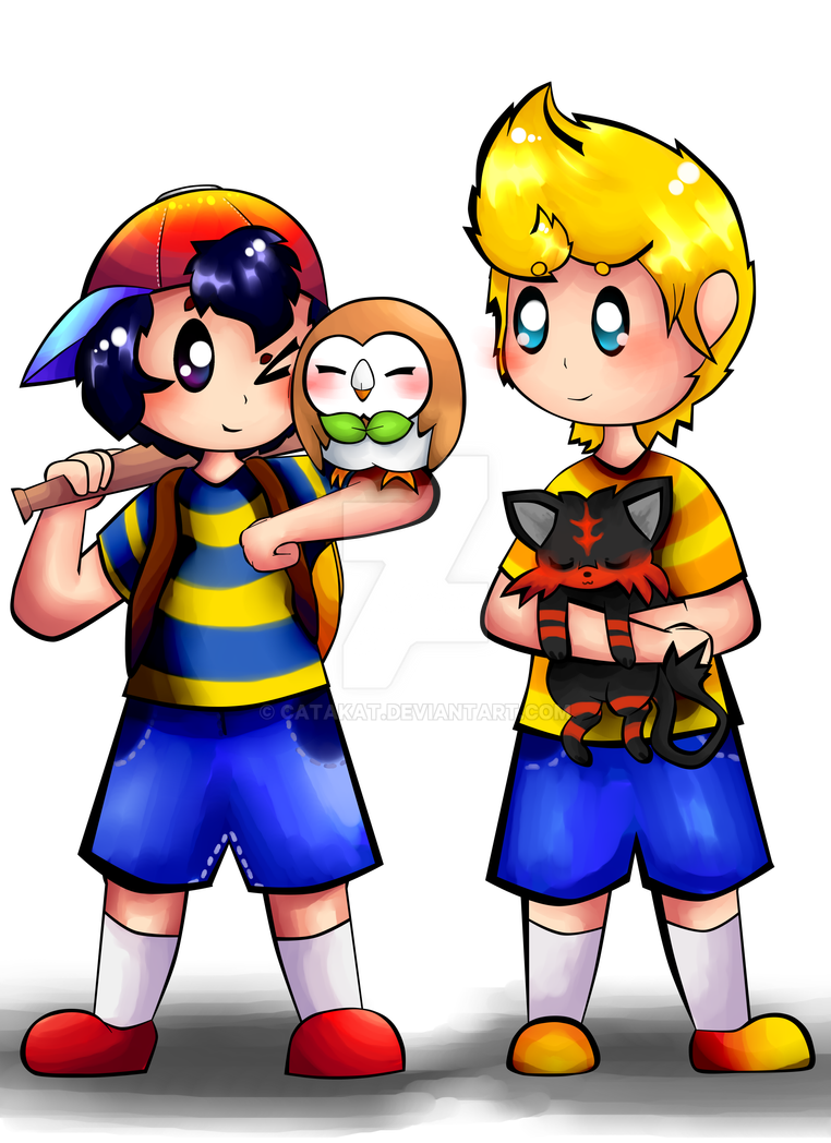 Earthbound and pokemon by Catakat