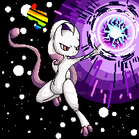 Mega Mewtwo by Catakat