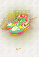 NIKE COLORFUL  full view by NatalieArts
