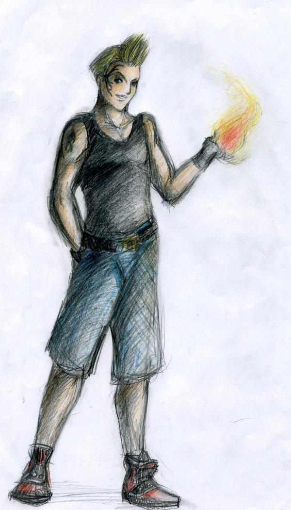 Zell Holding A Fireball By Engill16