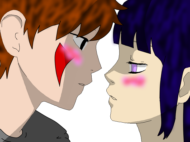 Kiba and Hinata almost Kiss by KibaHinataForever on DeviantArt  Kankuro And Sakura Kiss