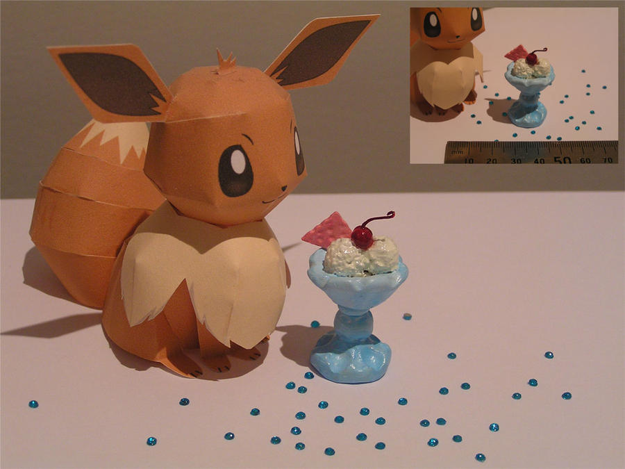 Ice cream for Eevee! by CJM99
