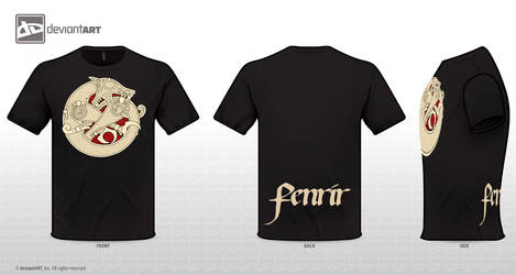 Fenrir T-Shirt by twistedstrokes