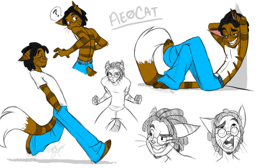AeoCat sketches by Aeolus06