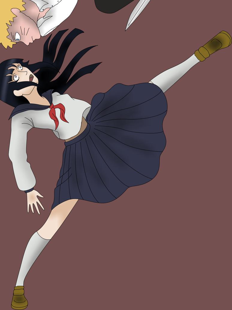 Hinata vs Naruto by nothinimportant on DeviantArt