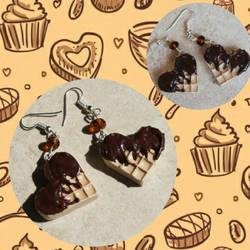 orecchini fimo waffle by Stefymo
