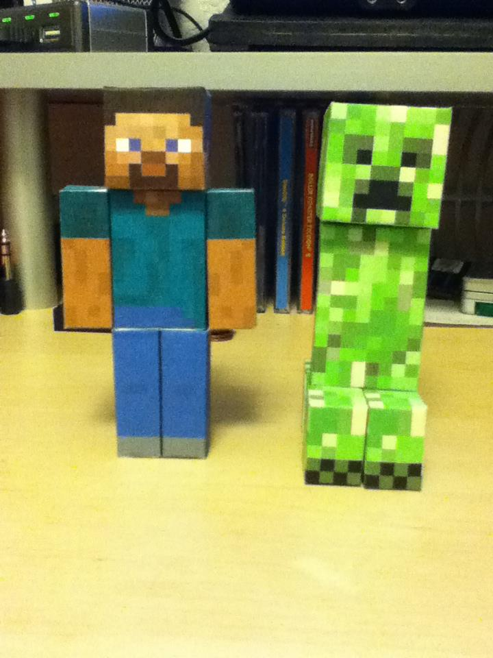 Minecraft steve and creeper papercraft by sidorak900 on - Minecraft creeper and steve ...