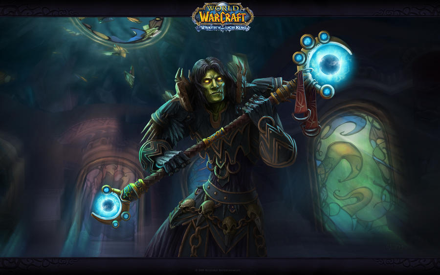 undead warlock from world of warcraft wallpaper by