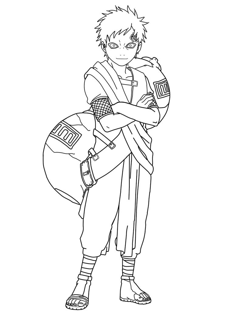 gaara coloring pages - photo#21