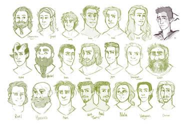 DnD| Caravan Characters by RomyvdHel-Art