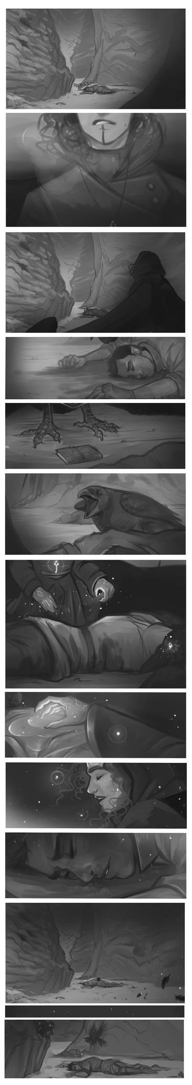 DnD|sketch comic| Not yet... by RomyvdHel-Art