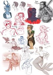 DnD| sketchdump XI by RomyvdHel-Art