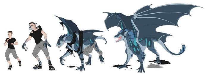 Commission| CanineHybrid|Tusaris by RoyvdHel-Art