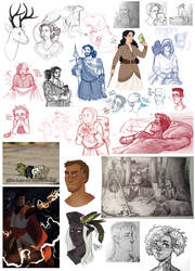 DnD| Sketchdump XIV by RomyvdHel-Art