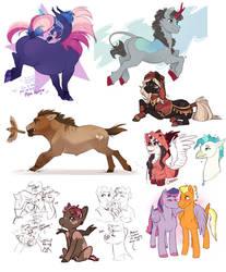 Random Pony-Sketches by RoyvdHel-Art