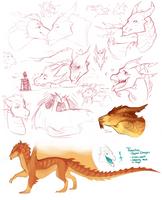 Emil, Thanatos| Dragon Sketch dump