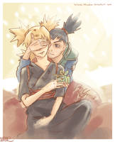 Shikamaru and Temari by Akaolin