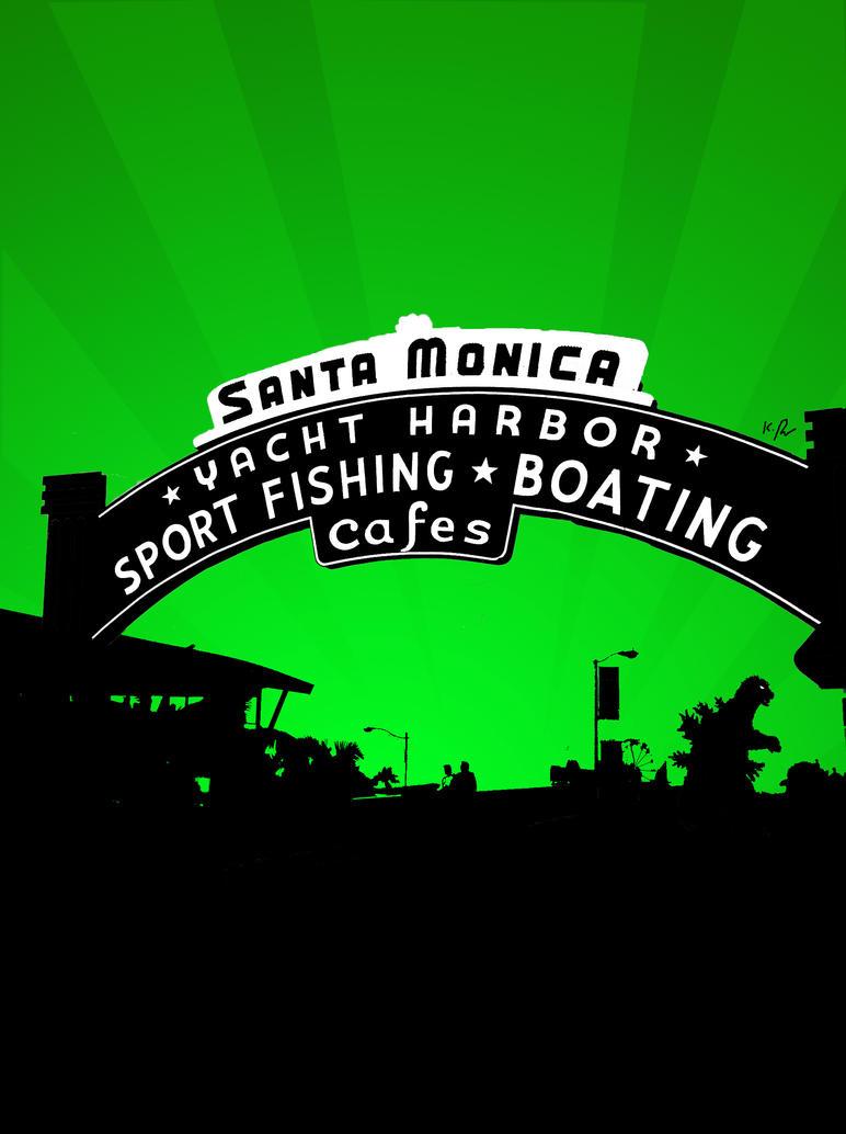 Santa Monica Vector Poster by LemonSwank