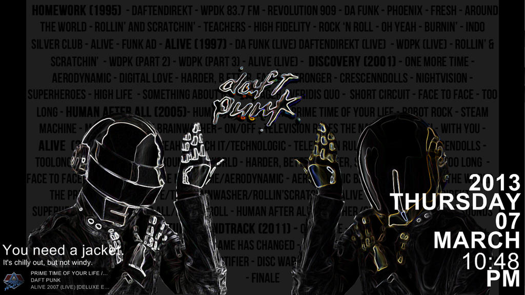 DaftPunk (Rainmeter) by LemonSwank