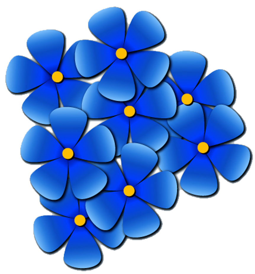 clip art forget me not flower - photo #4