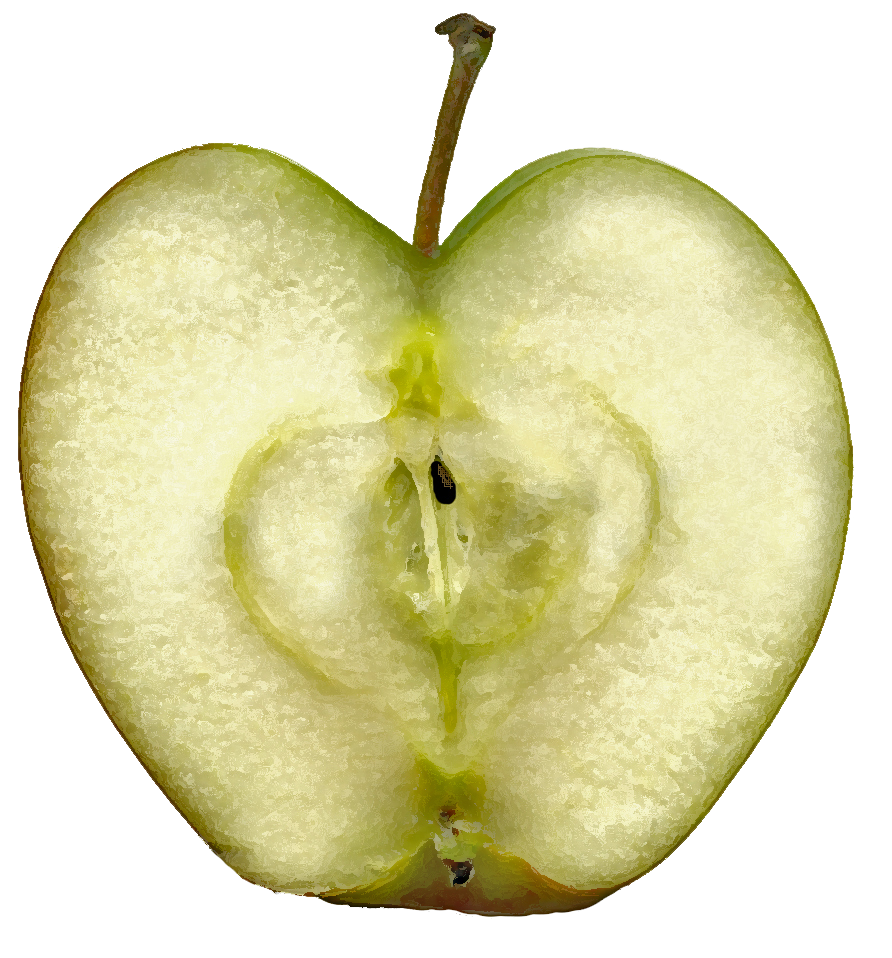 Sliced Apples And Cake Mix