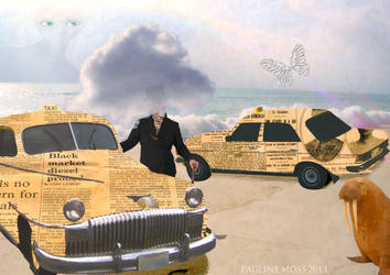 Newspaper Taxis by PaulineMoss