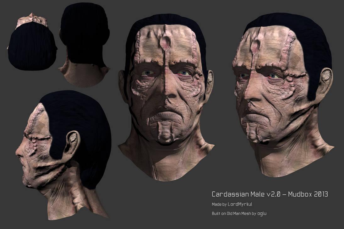 Cardassian Male v2 0 - Mudbox 2013 by oskaragnarsson on DeviantArt