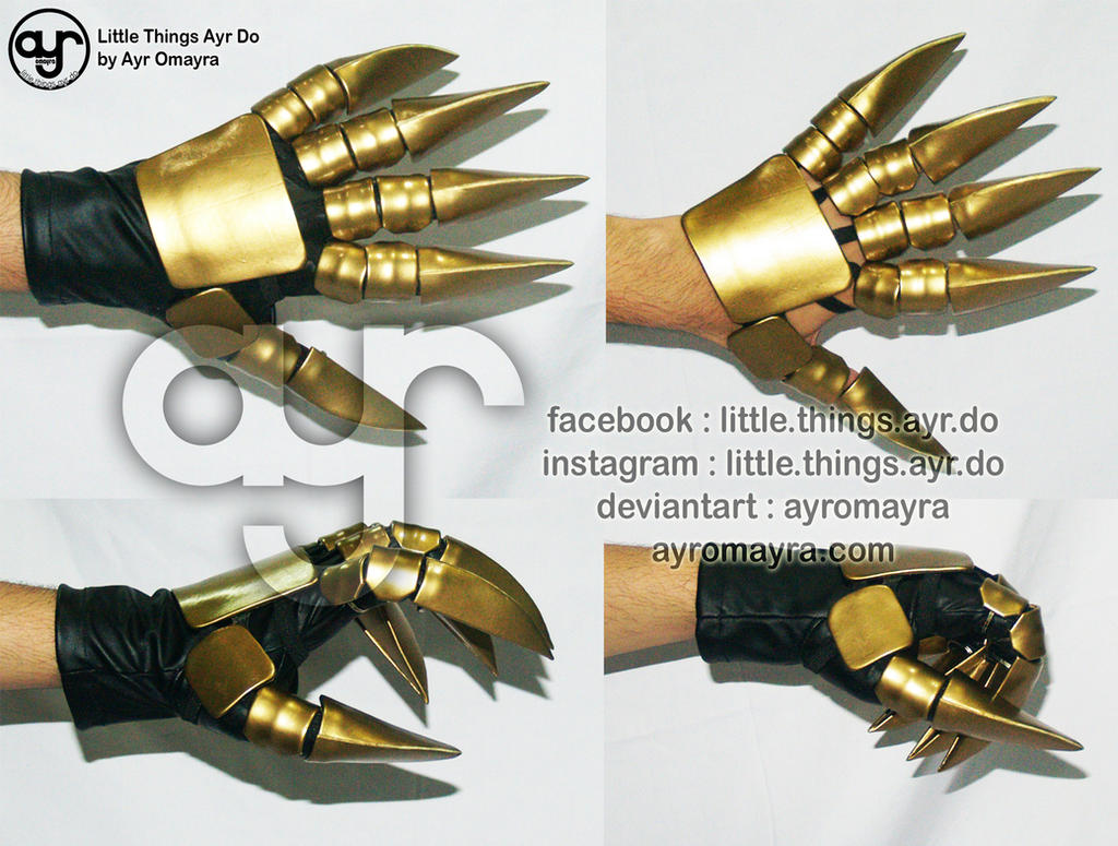 Vincent Valentine gloves by AyrOmayra