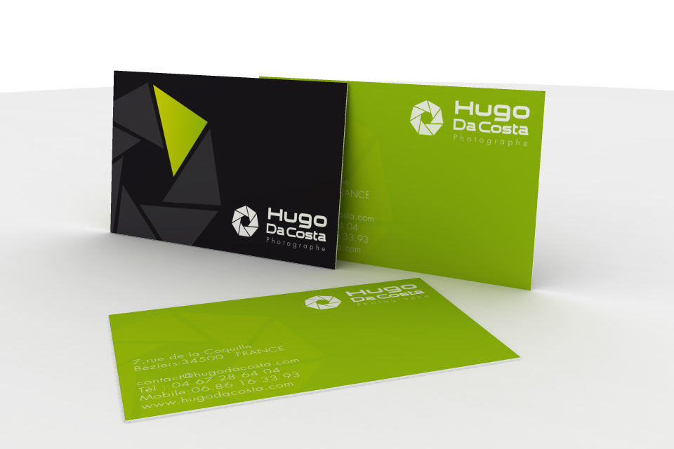 business card hugo da costa photograph by seb graphiste on deviantart. Black Bedroom Furniture Sets. Home Design Ideas